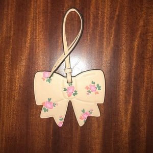 COACH Floral Bow Ornament Luggage Hang Tag NWT